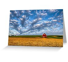 Palouse Country Barn with Dramtic Cloudscape Greeting Card