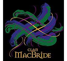Clan MacBride - Prefer your gift on Black/White tell us at info@tangledtartan.com  Photographic Print