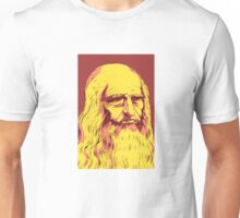 Leonardo da Vinci Self-Portrait, 1512. Colorful remake. Unisex T-Shirt