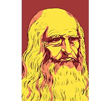 Leonardo da Vinci Self-Portrait, 1512. Colorful remake. Photographic Print