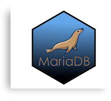 maria DB hexagonal programming language sticker Canvas Print