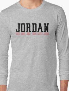 Michael Jordan Championship years  Long Sleeve T-Shirt
