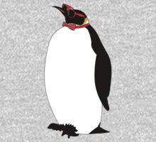 Hipster Penguin One Piece - Long Sleeve