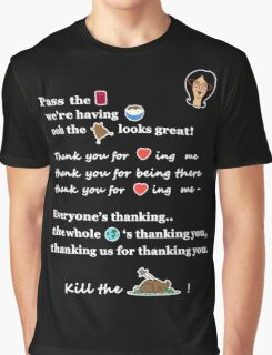 Linda Belcher Thanksgiving Song Graphic T-Shirt
