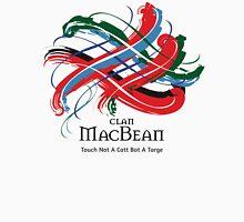 Clan MacBean - Prefer your gift on Black/White tell us at info@tangledtartan.com  Unisex T-Shirt