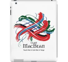 Clan MacBean - Prefer your gift on Black/White tell us at info@tangledtartan.com  iPad Case/Skin
