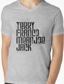 Terry Franco Mean Joe Jack / Gold Mens V-Neck T-Shirt