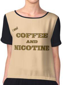 Coffee And Nicotine Chiffon Top