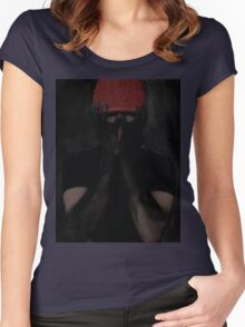 Slip away into the sound Women's Fitted Scoop T-Shirt