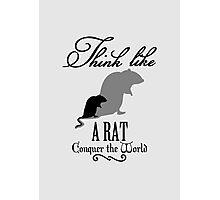 Think like Rat Photographic Print