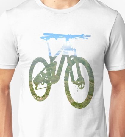 Mountain Bike Mountain and Sky - MTB Collection #003 Unisex T-Shirt