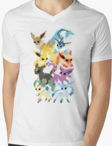 Eeveelutions Mens V-Neck T-Shirt