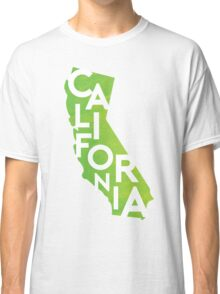 California - Green Watercolor Classic T-Shirt