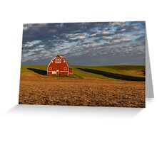 Palouse Country Barn with Shadows Greeting Card