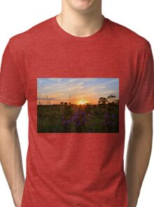 Summer Prairie Sunset Tri-blend T-Shirt