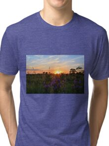Summer Prairie Sunset Tri-blend T-Shirt