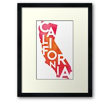 California - Watercolor Framed Print