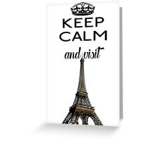 Eiffel Tower France Paris Greeting Card