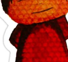 Watercolour Top Hat Man Sticker