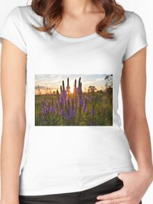 Looseleaf Sunset 2 Women's Fitted Scoop T-Shirt