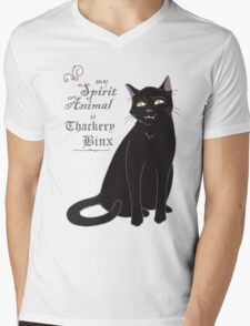 Binx - Hocus Pocus (White) Mens V-Neck T-Shirt
