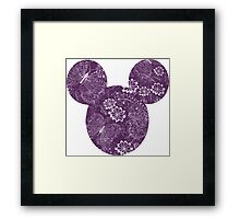 Mouse Exquisite Butterfly Patterned Silhouette Framed Print