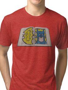 Batman Altered Book Design Tri-blend T-Shirt