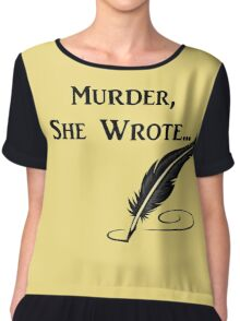 Murder, She Wrote - Quotes Chiffon Top