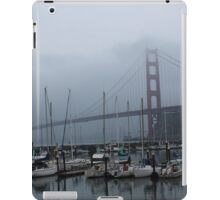 A view of the Golden Gate bridge from the Presidio Yacht Club iPad Case/Skin