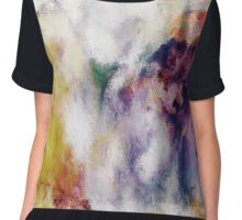 Colorful Abstract Flowers Chiffon Top