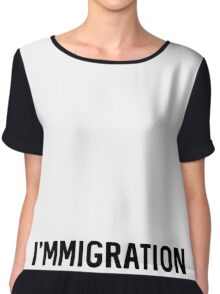 I'mMigration Chiffon Top