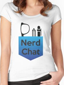 Nerd Chat Podcast Logo (Gradient) Women's Fitted Scoop T-Shirt
