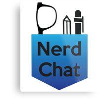 Nerd Chat Podcast Logo (Gradient) Metal Print