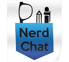 Nerd Chat Podcast Logo (Gradient) Poster