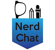 Nerd Chat Podcast Logo (Gradient) Photographic Print