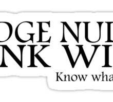 Monty Python, Nudge, Nudge.. Sticker