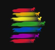 Unicorn Rainbow Race Womens Fitted T-Shirt