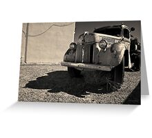 Old Vehicle VII  BW - Ford Truck Toned Greeting Card