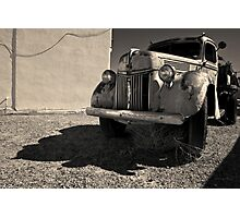 Old Vehicle VII  BW - Ford Truck Toned Photographic Print