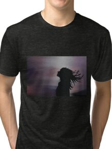 Silhouette of a girl! Tri-blend T-Shirt