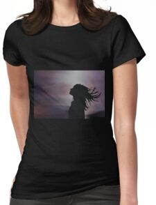 Silhouette of a girl! Womens Fitted T-Shirt