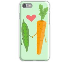 Peas & Carrots in love iPhone Case/Skin