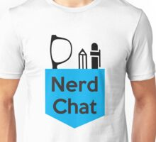 Nerd Chat Podcast Logo (No Gradient) Unisex T-Shirt