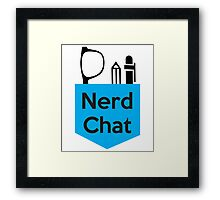 Nerd Chat Podcast Logo (No Gradient) Framed Print