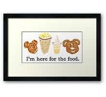 Here for the food. Framed Print