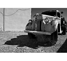 Old Vehicle VII  BW - Ford Truck Photographic Print