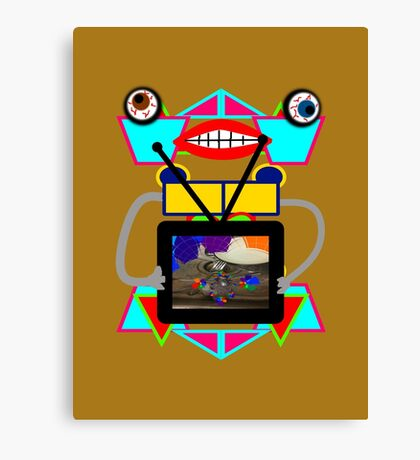 Somebody Bought a New TV! Canvas Print