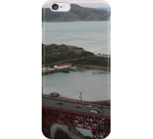 A view of the Golden Gate Bridge and Fort Cronkhite iPhone Case/Skin