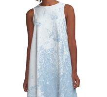 Earth Sweat Design (Airy Blue Color) A-Line Dress