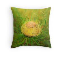 Silk art Neil Welsh exclusive designs- Australian Dyandra Flower Throw Pillow